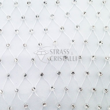 Gallon strass CON RETE BIANCO/CRY 1 strass
