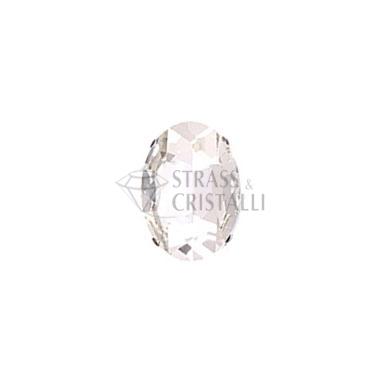Ovale in cristallo con castone CRISTALLO