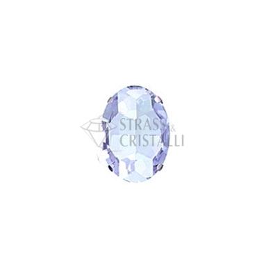 Ovale in cristallo con castone AZZURRO
