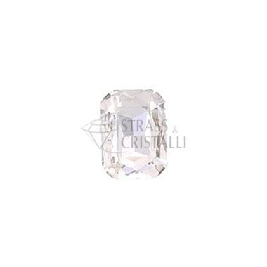 Ottagono in cristallo con castone CRISTALLO