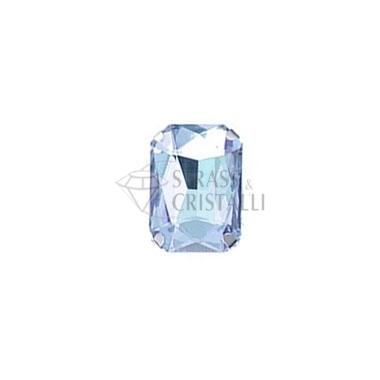 Ottagono in cristallo con castone AZZURRO