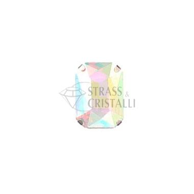 Ottagono in cristallo con castone AURORA BOREALE