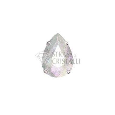 Goccia in cristallo con castone AURORA BOREALE