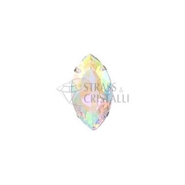 Navetta in cristallo con castone AURORA BOREALE