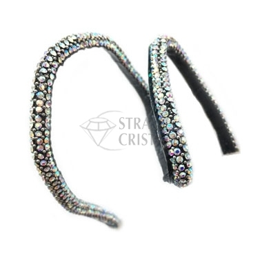 FILO DI STRASS MODELLABILE NERO/AB