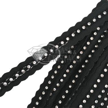 Passamaneria elastica con strass
