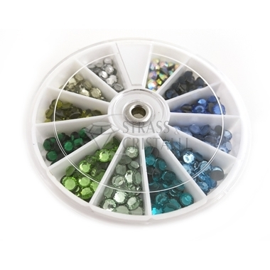 MIX COLORI STRASS SS20 HOTFIX BLU/VERDE