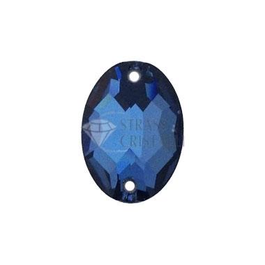 Pietra da cucire ovale DENIM BLUE