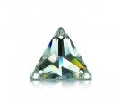 Pietra da cucire con fori  triangolare 18 MM Crystallo