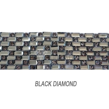 GLASS MESH CON BAGUETTE BLACK DIAMOND