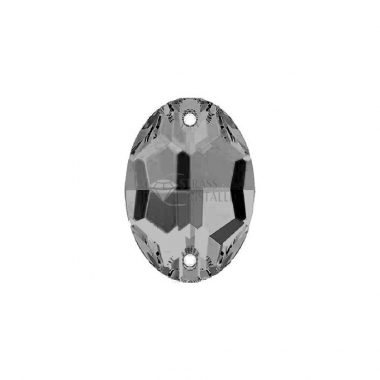 Pietra da cucire con fori  ovale 10 MM MOON SHADOW