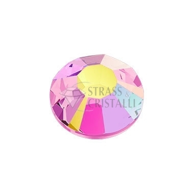 STRASS FLAT BACK ROSE AB
