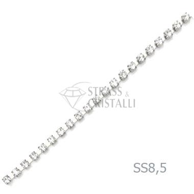 CATENA STRASS SS 8,5 ARGENTO 2,5 mm