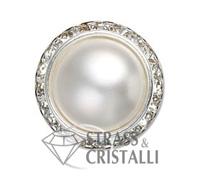 Bottone gioiello con perla o corallo