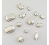 Pietre acriliche perlate con castone
